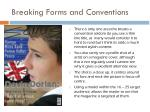 breaking forms and conventions