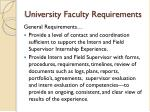 university faculty requirements
