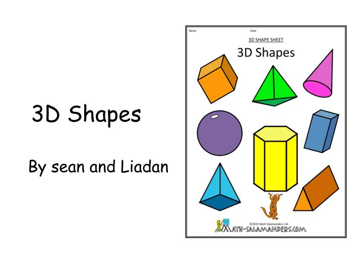PPT - 3D Shapes PowerPoint Presentation - ID:2850281