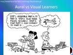 aural vs visual learners