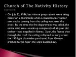 church of the nativity history continued