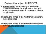 factors that affect currents1