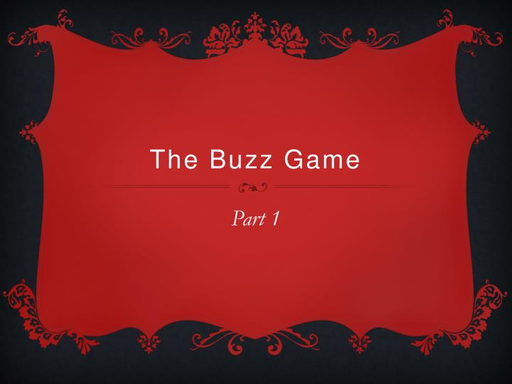 the buzz game n.