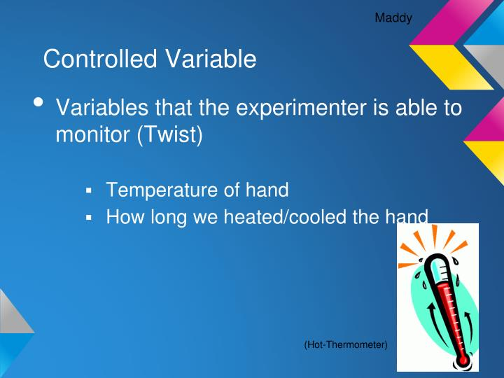 controlled variable n.