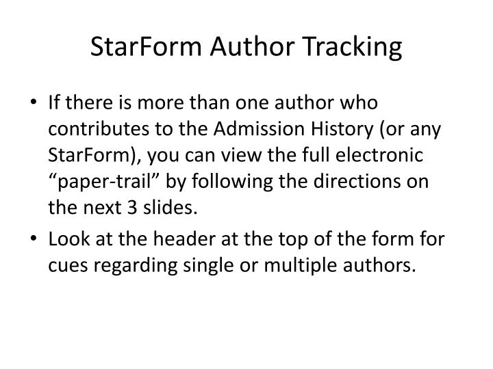 starform author tracking n.