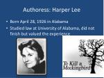 authoress harper lee