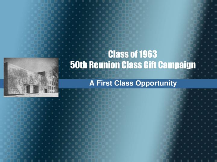 a first class opportunity n.