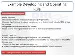 example developing and operating rule2