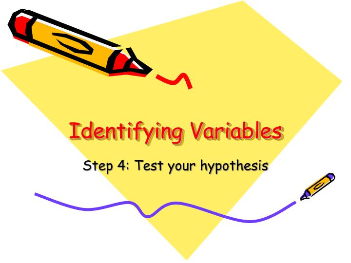 identifying variables n.