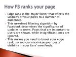 how fb ranks your page