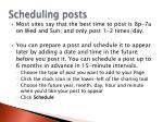 scheduling posts