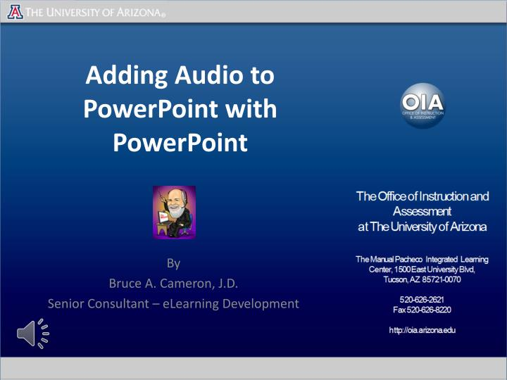 adding audio to powerpoint with powerpoint n.