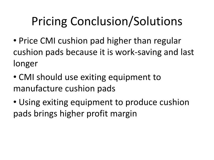 pricing conclusion solutions n.