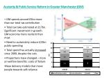 austerity public service reform in greater manchester gm