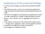 implications of the empirical findings