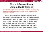 correct conventions make a big difference