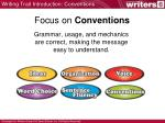 focus on conventions