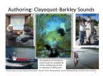 authoring clayoquot barkley sounds