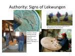 authority signs of lekwungen