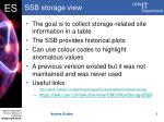 ssb storage view
