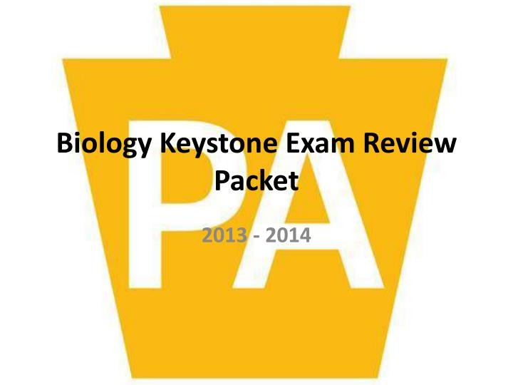biology keystone exam review packet n.