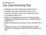 s i simplification use case authoring tool