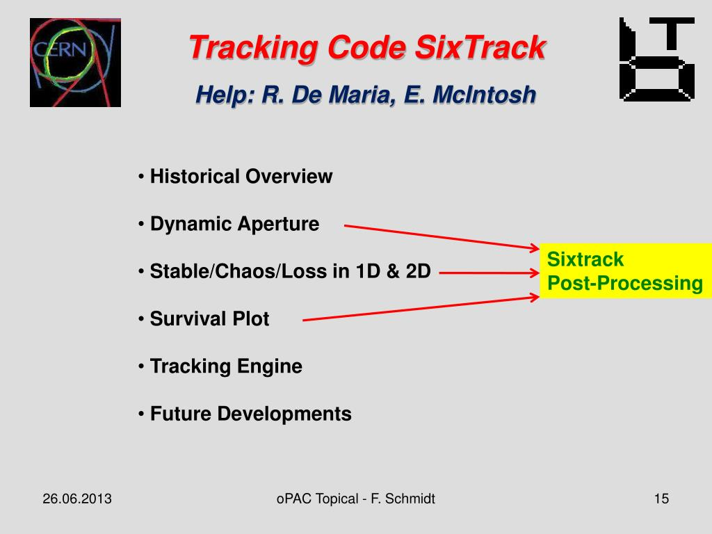 PPT - Optics Code MAD-X and Tracking code SixTrack at CERN - An
