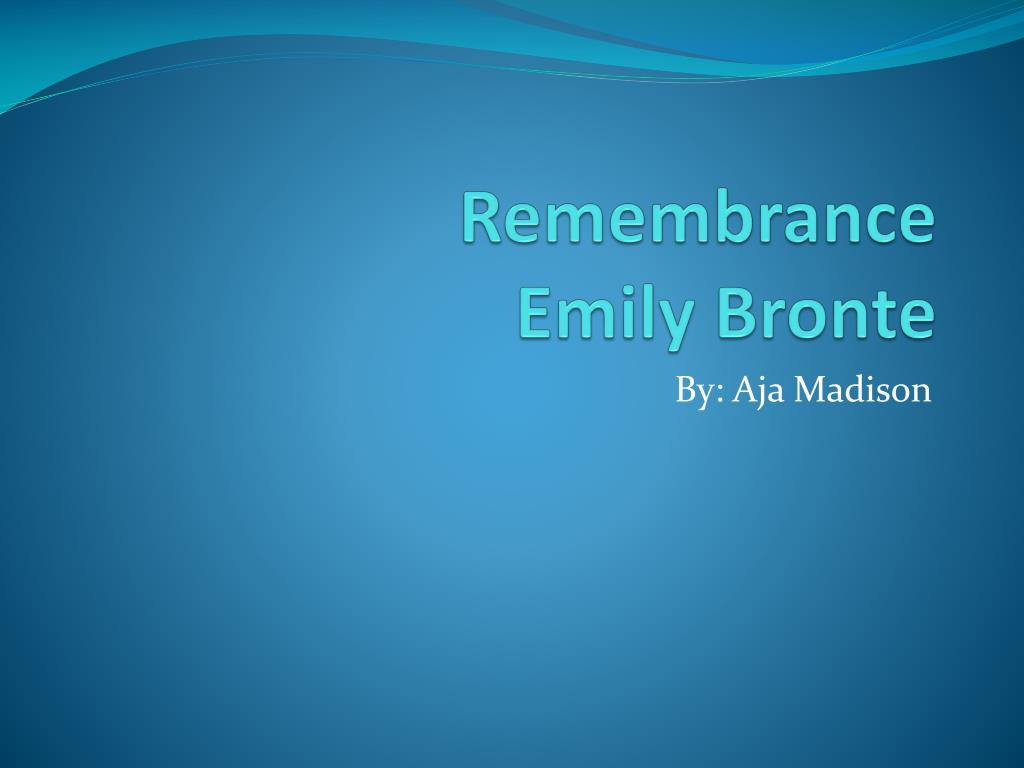 remembrance poem emily bronte