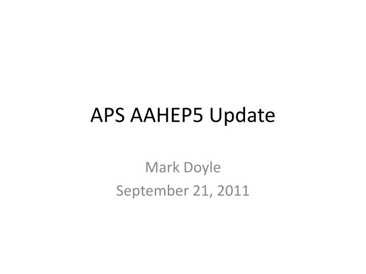 aps aahep5 update n.