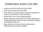 collaboration author lists xml