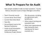 what to prepare for an audit