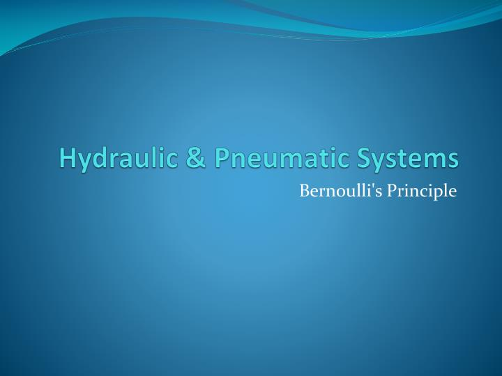 hydraulic pneumatic systems n.