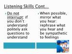 listening skills cont