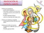 invocaci n al espiritu santo