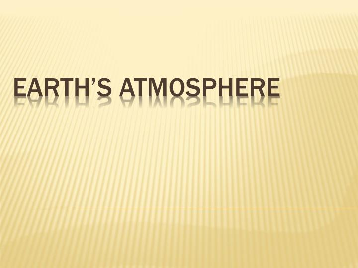 earth s atmosphere n.