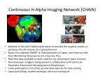 continuous h alpha imaging network c hain