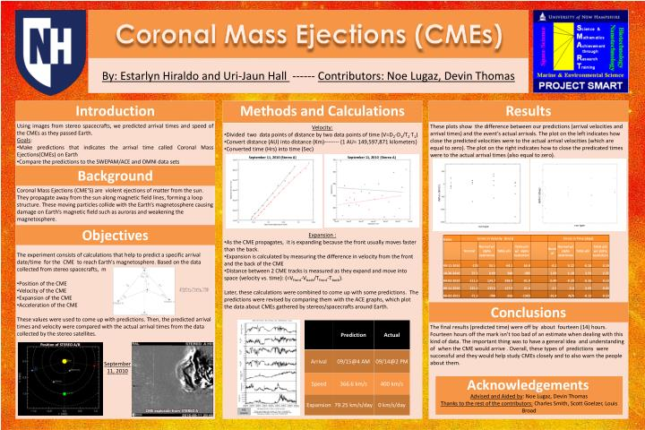 coronal mass ejections cmes n.
