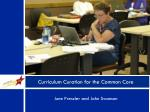 curriculum curation for the common core