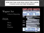 how did the new deal help the labor unions and factory workers2