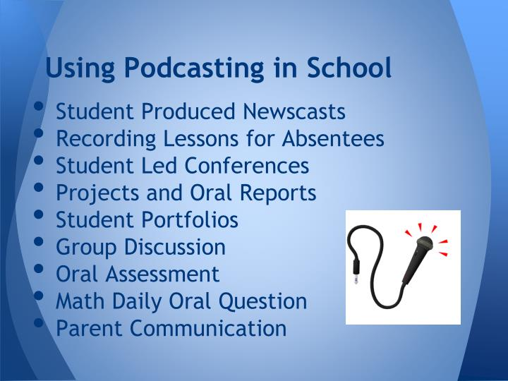 Using Podcasting in School