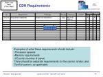 cdh requirements