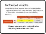 confounded variables