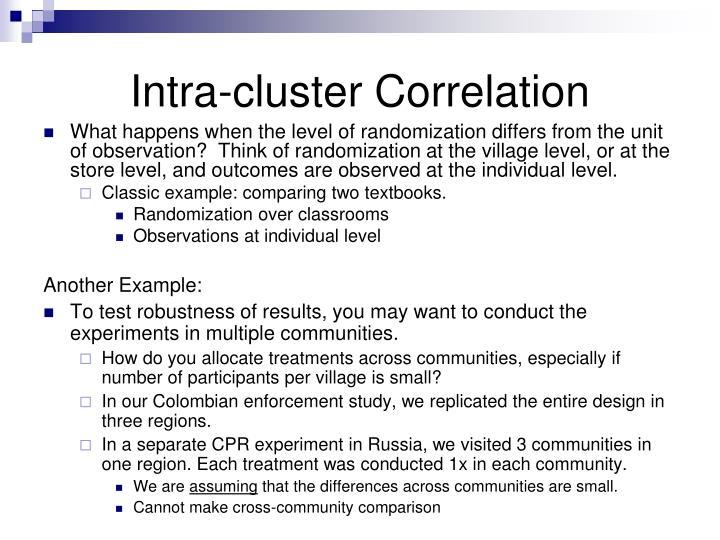 Intra-cluster Correlation