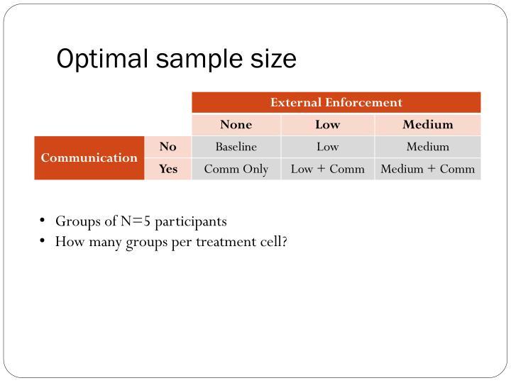 Optimal sample size