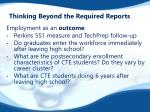 thinking beyond the required reports