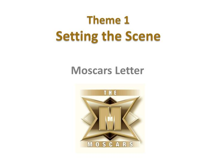 theme 1 setting the scene n.