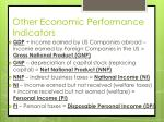other economic performance indicators