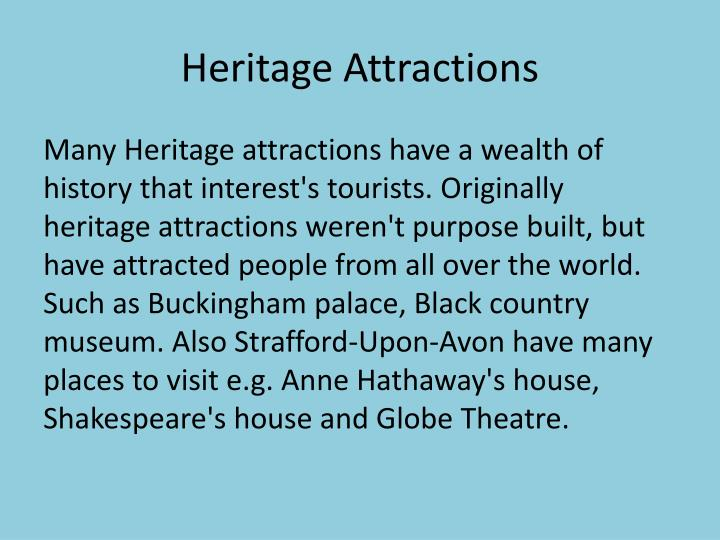 Heritage Attractions