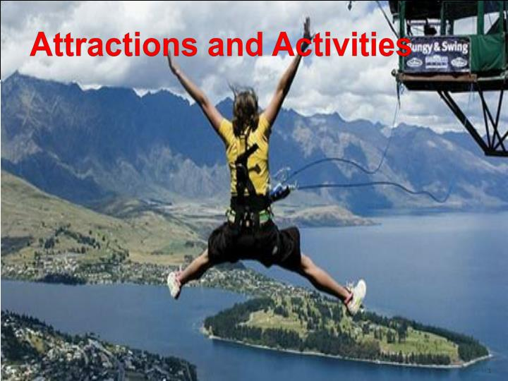 attractions and activities n.