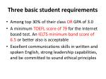 three basic student requirements